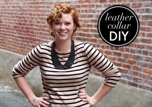A cute collar necklace DIY from What I Wore.