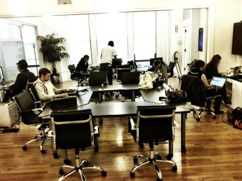 Some of our team getting busy at the Morpheus Media offices today as we wait for power to be restored to Soho