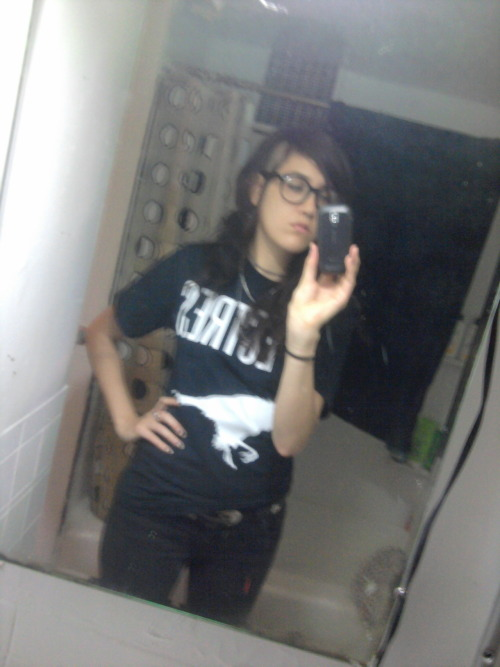 Going to work with no make up, band shirt and glasses = going to work looking like a boy.