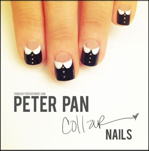We love these Peter-Pan collar nails from The Beauty Department!