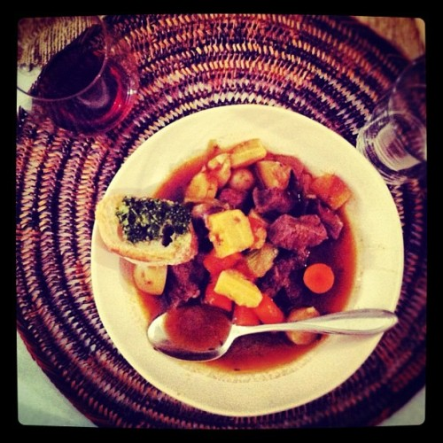"""My good friends down the street in Brooklyn made a huge pot of beef stew to keep us cozy as they rode out the Hurricane Sandy together. It was a meal (and a night) I won't forget."" —Stacy Adimando, Food Editor"