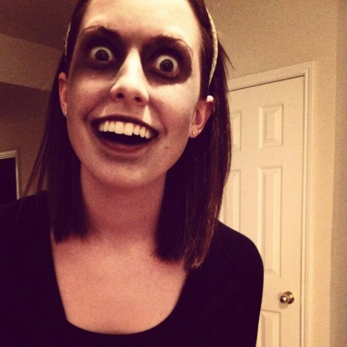 Overly Attached Zombie  She'll eat your brains so you don't have to think about other girls