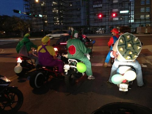 Mario Kart for Halloween Look out for Koopa shell road rage