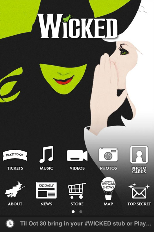 Official Wicked App Available for Download at http://road.ie/wicked