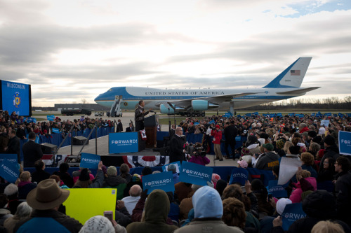 "President Obama in Green Bay, Wisconsin:  ""I know what change looks like, because I fought for it. You have, too. And after all we've been through together, we sure as heck can't give up now. Change is a country where Americans of every age have the skills and education that good jobs now require. And government can't do this alone, but don't tell me that hiring more teachers won't help this economy grow, or help young people compete. Don't tell me that students who can't afford college should just borrow money from their parents. That wasn't an option for me, and I'll bet it wasn't an option for a whole lot of you. We shouldn't be ending college tax credits to pay for millionaires' tax cuts; we should be making college more affordable for everyone who's willing to work for it. We should recruit 100,000 math and science teachers so that high-tech, high-wage jobs aren't created in China, they're created right here in Green Bay, Wisconsin. We should work with community colleges to train another two million Americans with skills that businesses are looking for right now. That's my plan for the future. That's what change is. That's the America we're fighting for in this election."""