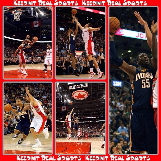 NBA Game Stats: Pacers - vs - Raptors  Pacers 90 (1-0, 1-0 away) Raptors 88 (0-1, 0-1 home) FINAL  Top Performers Indiana: D. West 25 Pts, 2 Reb, 1 Ast, 1 Stl Toronto: K. Lowry 21 Pts, 7 Reb, 8 Ast, 5 Stl    #keepinitrealsports #Indiana #Pacers #Toronto #Raptors #DavidWest #KyleLowry #NBA #Basketball #Hoops #B_Ball #Streetball #Sports #MysterKeepinit