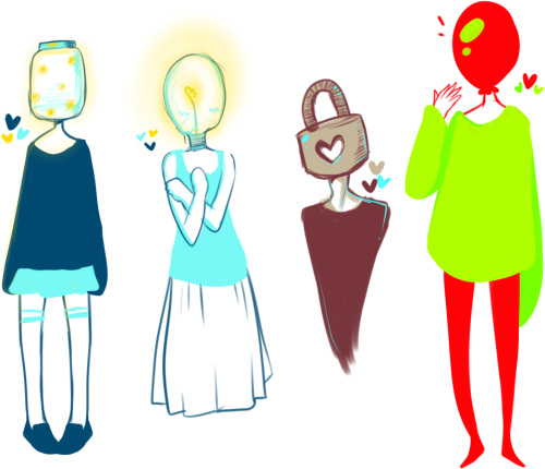 muffinsart:  some object head doodles uvu