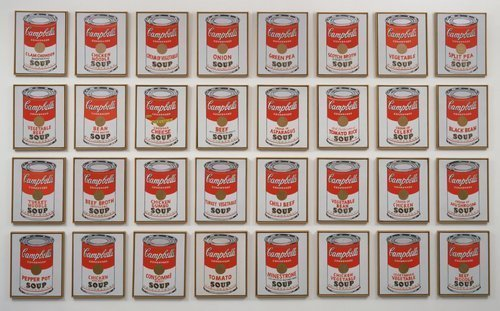 Andy Warhol, Campbell's Soup Cans, 1962