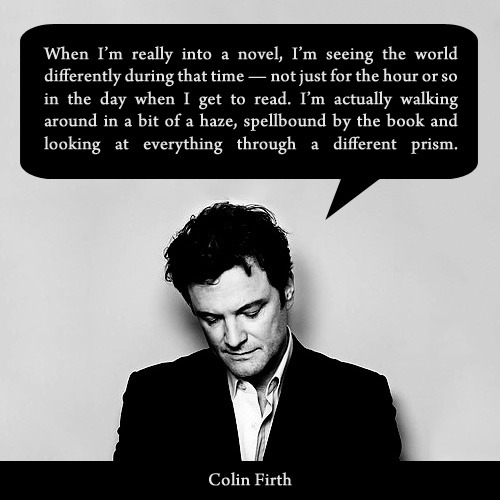 OMG. Amazing Colin Firth quote!