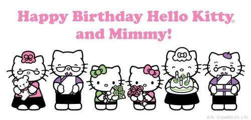 likeabagofsunshine:  hello-kitty:  Did you know that Hello Kitty and Mimmy are twins? =)  yes i did.  Confession - I have an affinity for all things way too cute for their own good, which I really think is the reason I love Pokemon.  I mean, guys, just take a look at a picture of a Lilipup, like seriously. Anyway - I tend to have this reaction where I become fascinated by it and if I have the time and ability to, have to just, stare at it for a while.  This happens almost EVERY time I see Hello Kitty stuff. Sorry - I felt I had to spill. Also, we had a Hello Kitty game on our old Macintosh in elementary school.