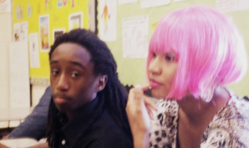 So i dressed up as Nicki Minaj to give the kids candy yesteray <3 i think i pulled it off