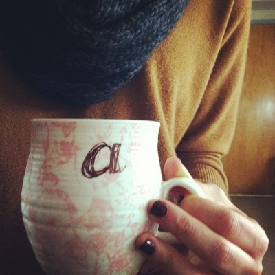 am-clark:  @anthropologie mug + black coffee.   Awww makes me miss my anthro mug. At least traveling has revealed to me a new love for tea, so when I get back to the States in August I can make use of all the mugs I'm missing during my year of eternal summer!