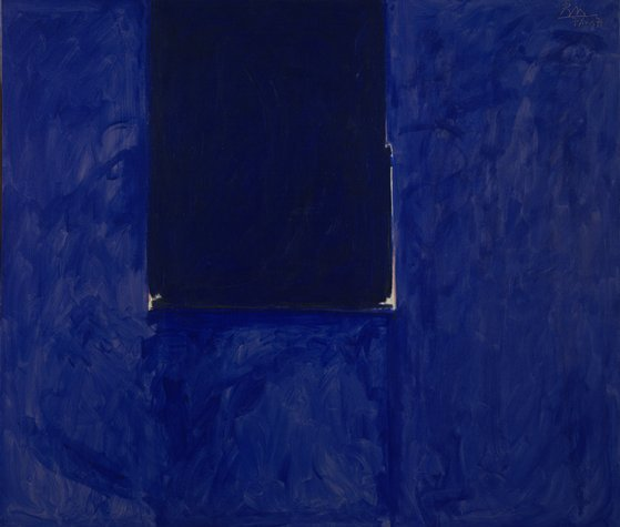 cavetocanvas:  Robert Motherwell, Untitled (Ultramarine), 1974