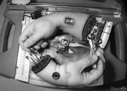 laughingsquid:  Hand Fixing Hand, A Sci-Fi Homage to M. C. Escher's Drawing Hands
