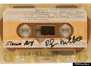 Apollo XIV's mixtape is up for auction. (Via Huffington Post)