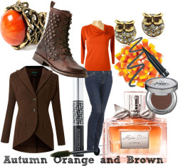 autumn orange and brown by glacialpool featuring christian dior