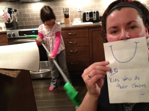 Day 10: kids who do their chores