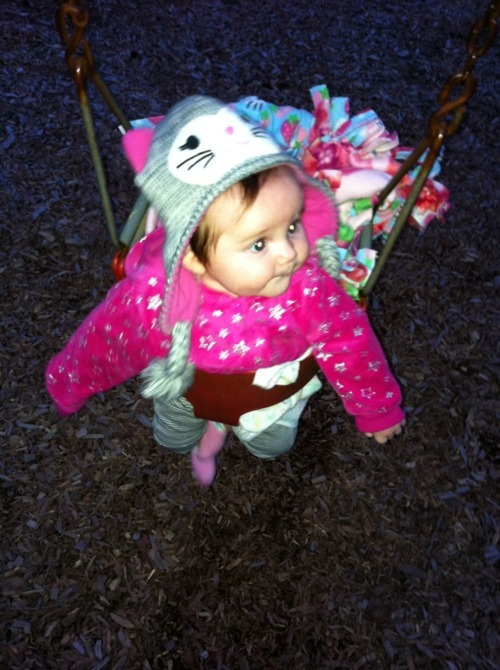 She loves the swings