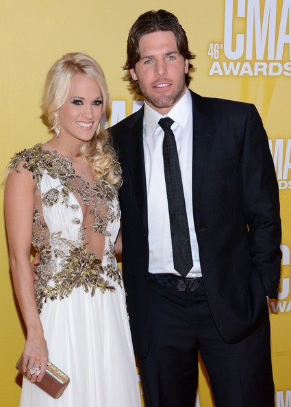 Mike Fisher attends the 2012 CMAs with his wife, Carrie Underwood