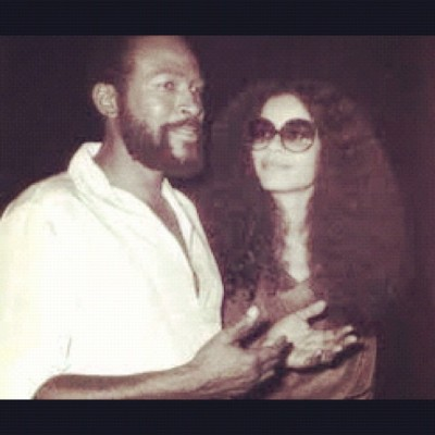 His fly Matches her fly: Marvin and Jan Gaye. #nametwin