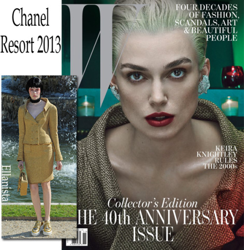 Magazines Keira Knightley wears Chanel on the cover of W magazine's November anniversary issue.
