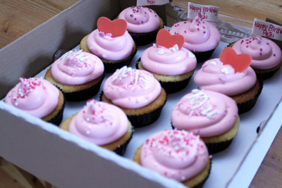 Pink Fluffy Cupcakes by Bailey Ana Cakes on Flickr.