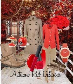 autumn red delicious by glacialpool featuring burberry boots