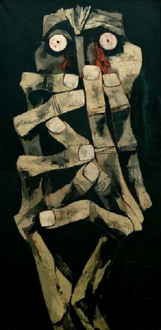 art-and-fury:  Tears of Blood - Oswaldo Guayasamín