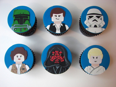 Star Wars Lego Cupcakes by death by cupcake on Flickr.