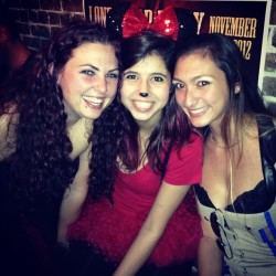 We're the three best friends that anyone could have! #halloween #costumes #costume #halloweencostume #happiness #minniemouse #highwaypatrol #devilsmisteress #bestfriends #bffl #brunettes