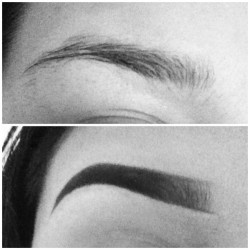 itsmorethanink:  annoys me how my eyebrows can never go like this after thursday i am going to challenge myself ill get there