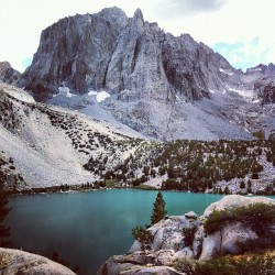 eddyizm:  Temple Crag #hiking #backpacking #california #easternsierras #hwy395 #eddyizm #iphone4 #bigpine big pine lakes #fuckyeahhiking #mountains #forest #johnmuir wilderness #glacier