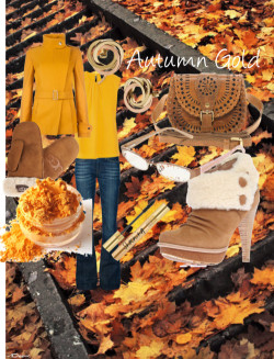 autumn gold by glacialpool featuring yves saint laurent
