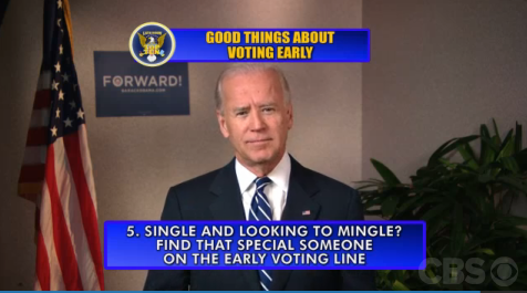 "kileyrae:  ""Top 10 Good Things About Early Voting"" With Vice President Joe Biden"