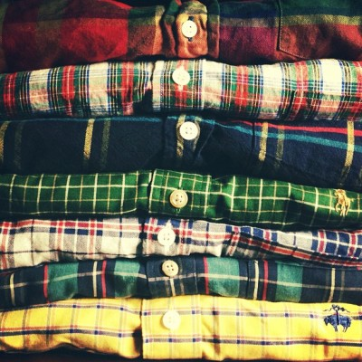 kieljamespatrick:  Think I'll pick out a plaid button down to wear tomorrow for the 340th day in a row.