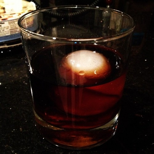 Damn. No #whiskey… Ill just drop this ice ball in some #Kraken #Rum  (at Ritz Charleston)