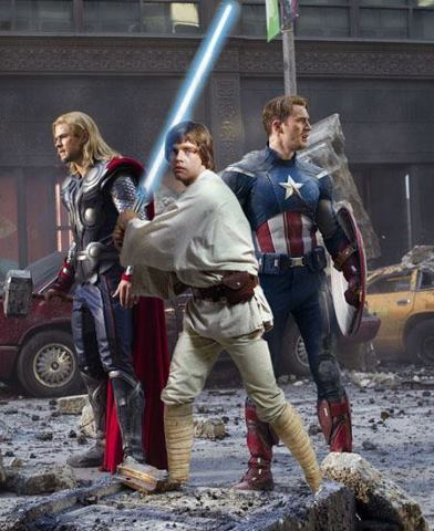 What if Universes Collided at DISNEY MARVEL and STAR WARS via screenrant.com