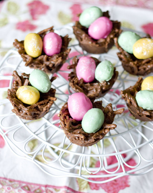 id-rather-have-food:  Cookie Dough Eggs and Chocolate PB Nests