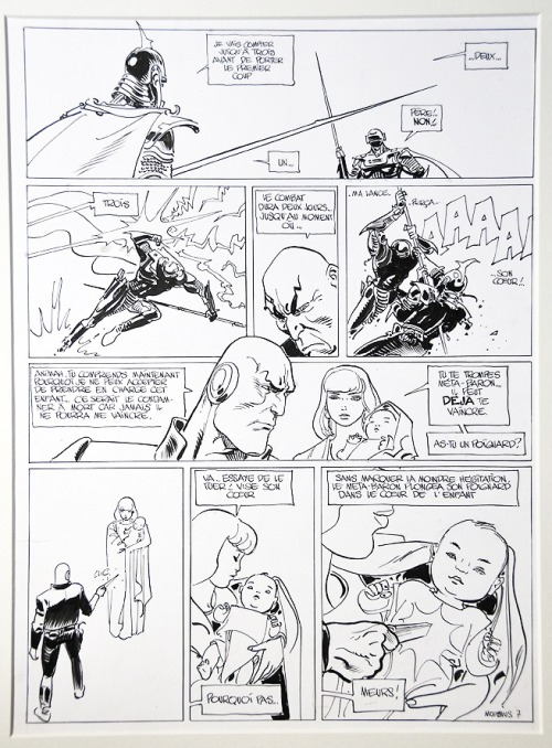 humanoidsinc:  An original page of Les Mystères de l'Incal by Mœbius and Jodorowsky.