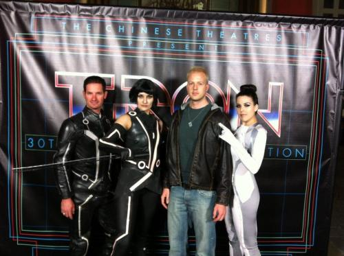 Tron 30th  We got to rock our Tron costumes at the Tron 30th event in Hollywood last week.  Happy 30th anniversary Tron!