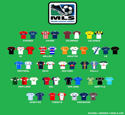 This took so long. But here are the MLS kits from the 2012 season painstakingly done in paint.