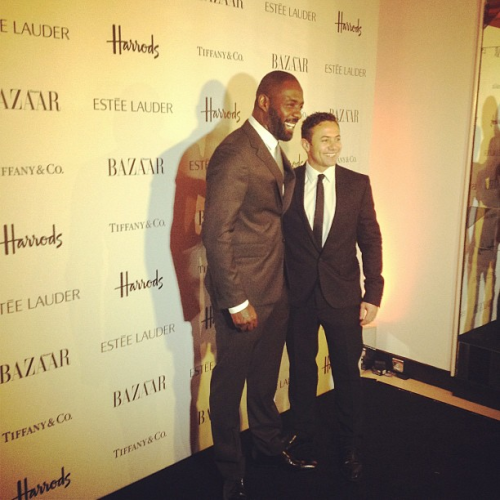 wasikowskas:  Idris Elba and Warren Brown @ the Harper Bazaar Awards