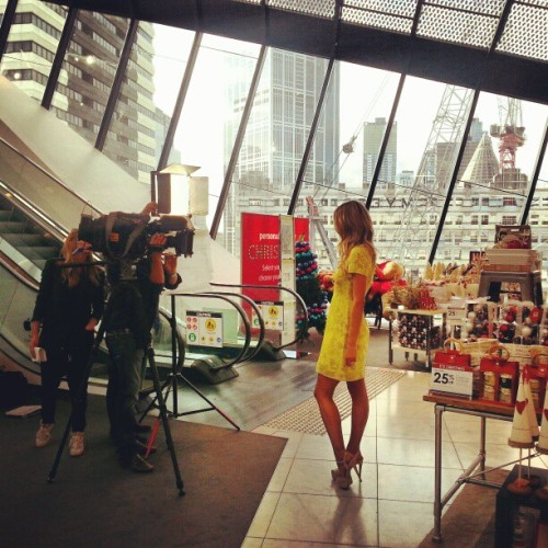 Just former Miss Universe Jennifer Hawkins shooting ANOTHER television spot on my floor. Just another normal day at Myer Melbourne ;) #myermelbourne #Myer #Melbourne #jenniferhawkins @myer_mystore  (at Myer)
