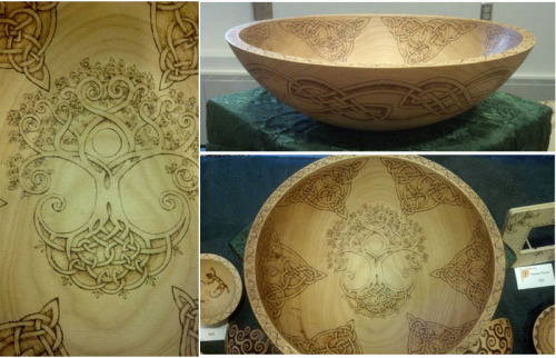 thedrunkenorseman:  Celtic Tree Of Life Bowl by *ladyfireoak