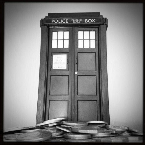 The TARDIS has landed.