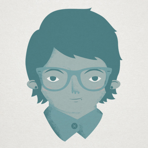 Ended up adding my glasses to this little self portrait.