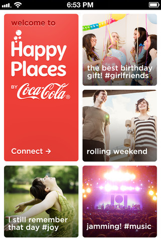 Happy Places by Coca-Cola is that place where you can upload photos of your happy moments, share them, and remember them any time you want My Happy place would be watching a group of angry carnivorous beavers chewing at the crotch of whoever said this would be a smart idea.