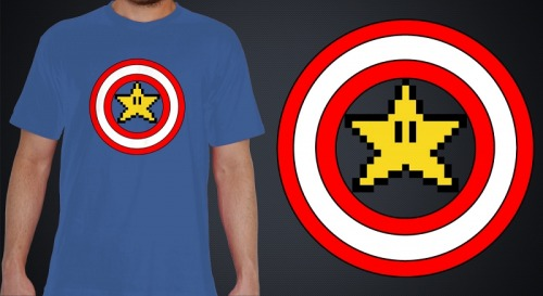 "dutyfreak:  ¡Por favor, votad por nuestro diseño ""Captain Mario"" para que se venda en Teevolt.com! ¡Gracias! Please, vote for our design ""Captain Mario"" on Teevolt.com! Thank you!"