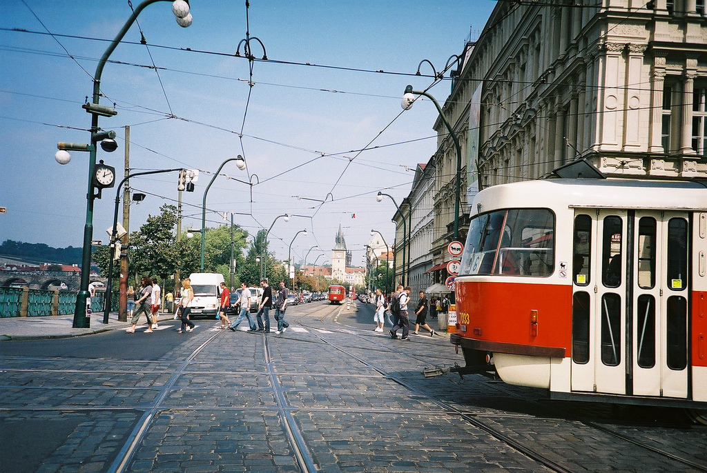 Prague Tram (by Jemima Ferguson)