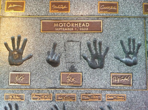 FUCK YEAH! MOTORHEAD! Took this outside guitar center in Hollywood.